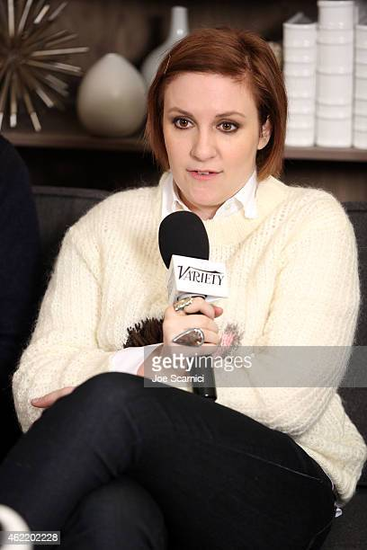 Actress Lena Dunham speaks at The Variety Studio At Sundance Presented By Dockers on January 25 2015 in Park City Utah