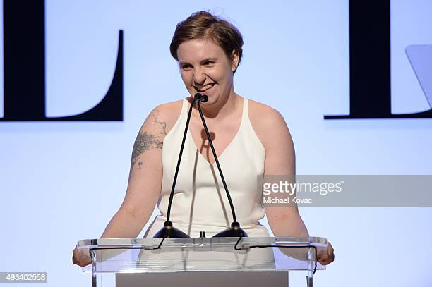 Actress Lena Dunham speaks onstage during the 22nd Annual ELLE Women in Hollywood Awards presented by Calvin Klein Collection L'Oréal Paris and David...