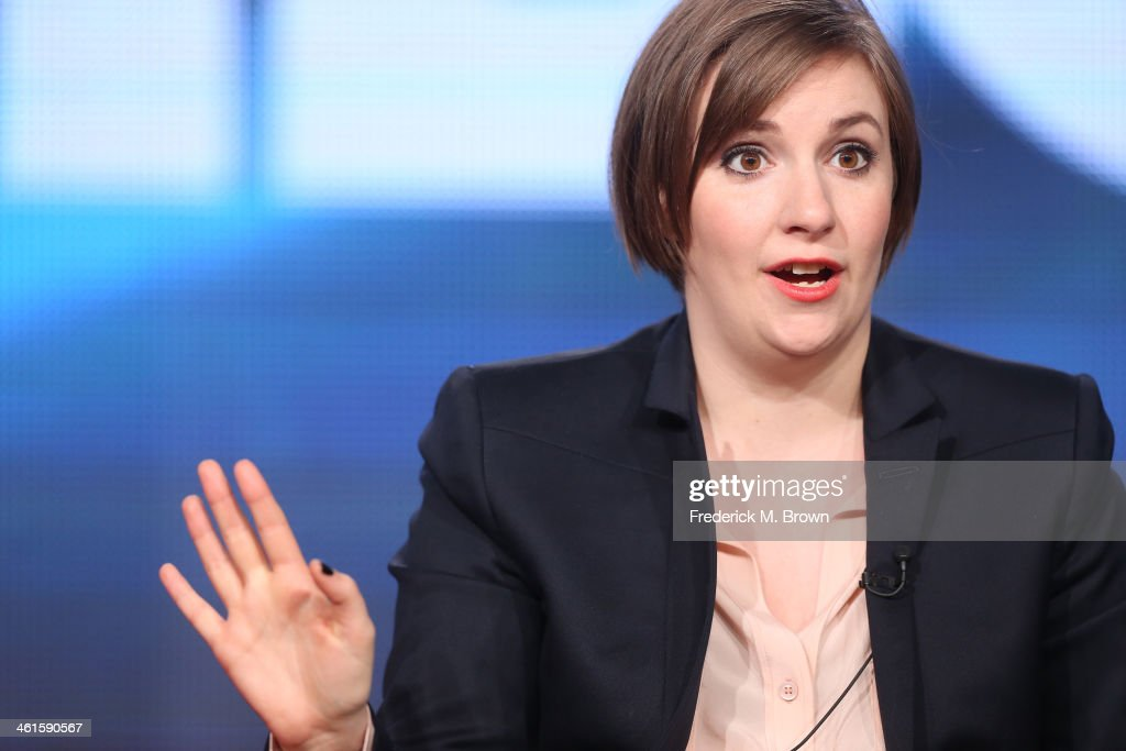 Actress <a gi-track='captionPersonalityLinkClicked' href=/galleries/search?phrase=Lena+Dunham&family=editorial&specificpeople=5836535 ng-click='$event.stopPropagation()'>Lena Dunham</a> speaks onstage during the 'Girls' panel discussion at the HBO portion of the 2014 Winter Television Critics Association tour at the Langham Hotel on January 9, 2014 in Pasadena, California.