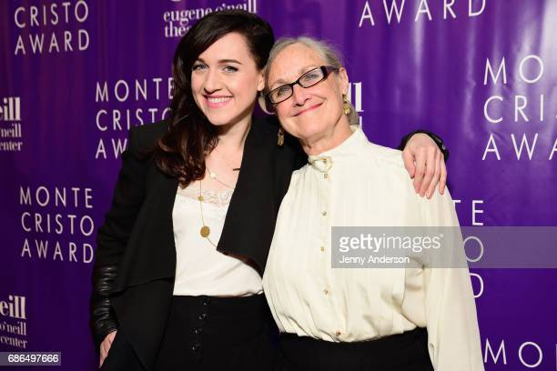 Actress Lena Hall and mother Carolyn Houser arrive at The Eugene O'Neill Theater Centers to the Monte Cristo Awards honoring Judith Light on May 21...
