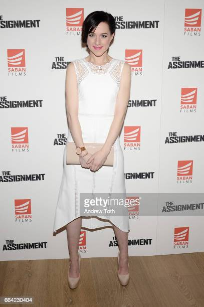 Actress Lena Hall attends 'The Assignment' screening at the Whitby Hotel on April 3 2017 in New York City