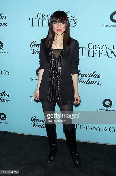 Actress Lena Hall attends the 'Crazy About Tiffany's' New York premiere at American Museum of Natural History on February 18 2016 in New York City
