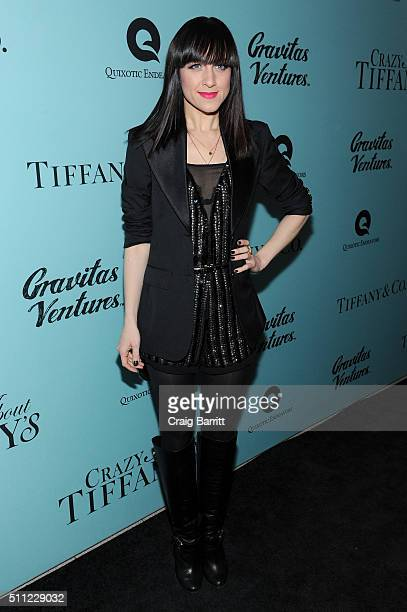 Actress Lena Hall attends the 'Crazy About Tiffany's' NY Premiere at The Museum Of Natural History on February 18 2016 in New York City
