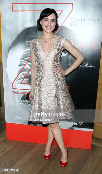 Actress Lena Hall attends the premiere of 'House of Z' hosted by Brooks Brothers with The Cinema Society at Crosby Street Hotel on September 7 2017...