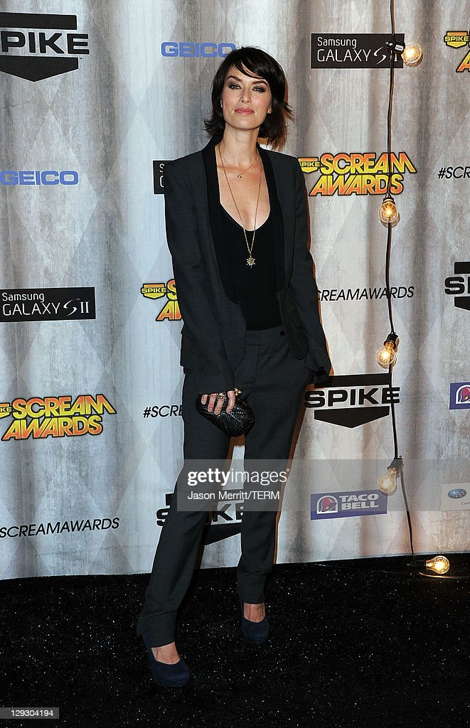 Actress Lena Headey arrives at Spike TV's 'SCREAM 2011' awards held at Universal Studios on October 15, 2011 in Universal City, California.
