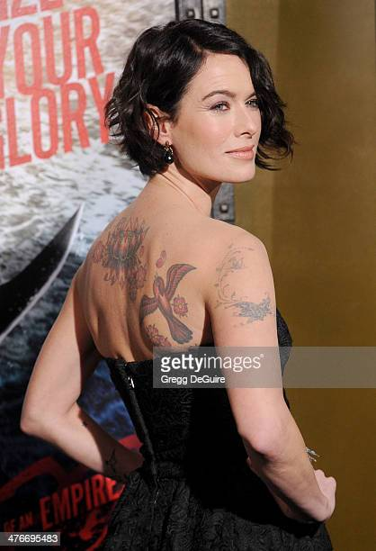 Actress Lena Headey arrives at the '300 Rise Of An Empire' Los Angeles premiere at TCL Chinese Theatre on March 4 2014 in Hollywood California
