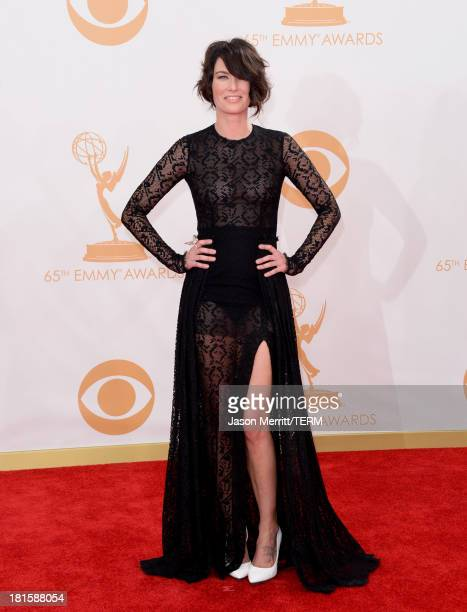 Actress Lena Headey arrives at the 65th Annual Primetime Emmy Awards held at Nokia Theatre LA Live on September 22 2013 in Los Angeles California