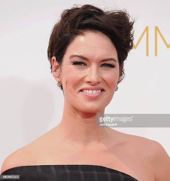 Actress Lena Headey arrives at the 66th Annual Primetime Emmy Awards at Nokia Theatre LA Live on August 25 2014 in Los Angeles California