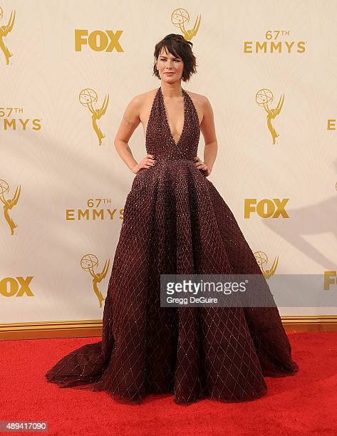 Actress Lena Headey arrives at the 67th Annual Primetime Emmy Awards at Microsoft Theater on September 20 2015 in Los Angeles California
