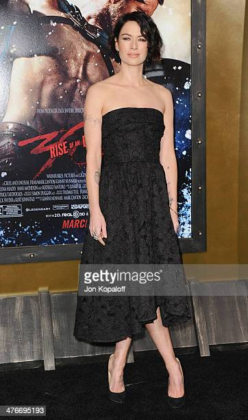 Actress Lena Headey arrives at the Los Angeles Premiere '300 Rise Of An Empire' at TCL Chinese Theatre on March 4 2014 in Hollywood California