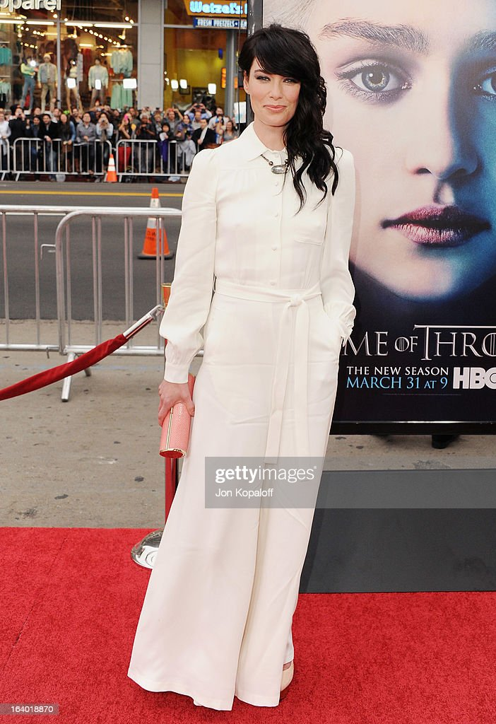 Actress Lena Headey arrives at the Los Angeles Premiere of HBO's 'Game Of Thrones' Season 3 at TCL Chinese Theatre on March 18, 2013 in Hollywood, California.