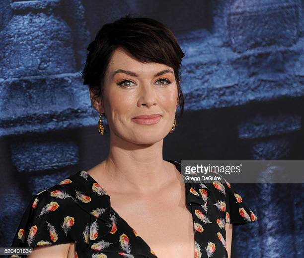 Actress Lena Headey arrives at the premiere of HBO's 'Game Of Thrones' Season 6 at TCL Chinese Theatre on April 10 2016 in Hollywood California