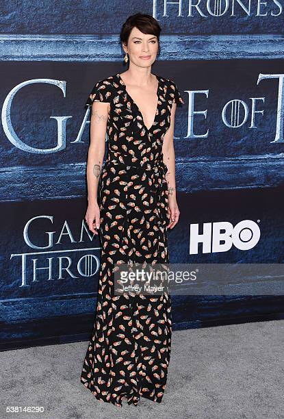 Actress Lena Headey arrives at the premiere of HBO's 'Game of Thrones' Season 6 at the TCL Chinese Theatre on April 10 2016 in Hollywood California