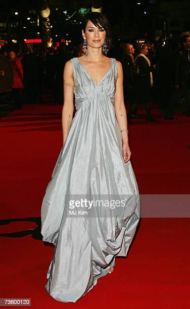 Actress Lena Headey arrives at the UK Premiere of '300' at Vue West End Leicester Square on March 15 2007 in London England Based on the work of...