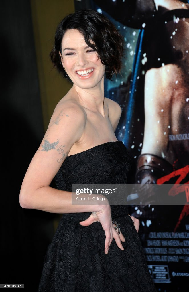 Actress <a gi-track='captionPersonalityLinkClicked' href=/galleries/search?phrase=Lena+Headey&family=editorial&specificpeople=2263449 ng-click='$event.stopPropagation()'>Lena Headey</a> arrives for the Premiere Of Warner Bros. Pictures And Legendary Pictures' '300: Rise Of An Empire' held at TCL Chinese Theatre on March 4, 2014 in Hollywood, California.