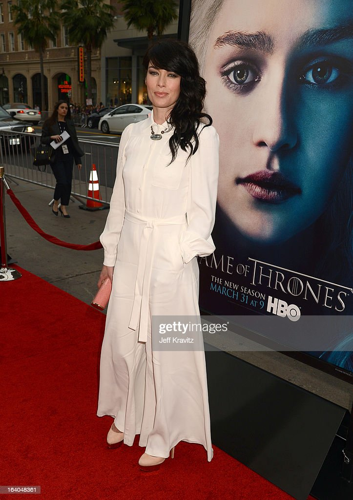 Actress Lena Headey arrives to HBO's 'Game Of Thrones' Los Angeles Premiere at TCL Chinese Theatre on March 18, 2013 in Hollywood, California.