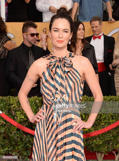 Actress Lena Headey attends 20th Annual Screen Actors Guild Awards at The Shrine Auditorium on January 18 2014 in Los Angeles California