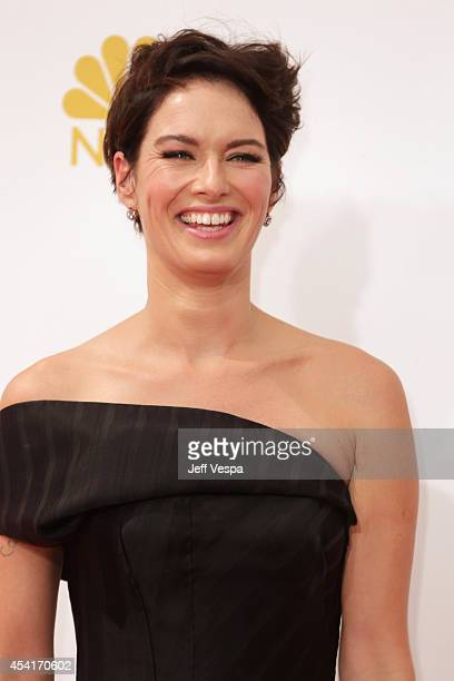 Actress Lena Headey attends the 66th Annual Primetime Emmy Awards held at Nokia Theatre LA Live on August 25 2014 in Los Angeles California