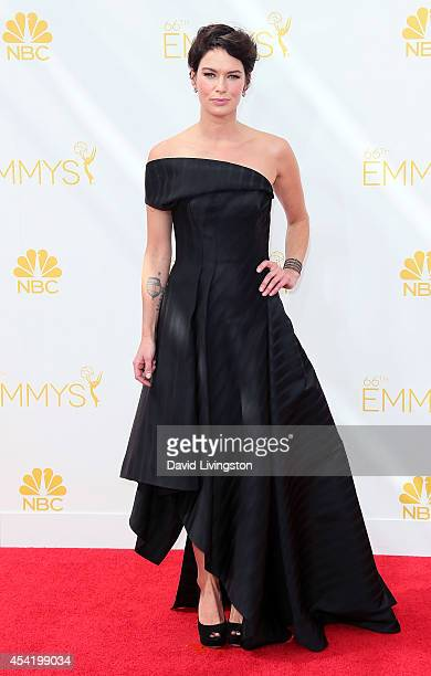 Actress Lena Headey attends the 66th Annual Primetime Emmy Awards at the Nokia Theatre LA Live on August 25 2014 in Los Angeles California
