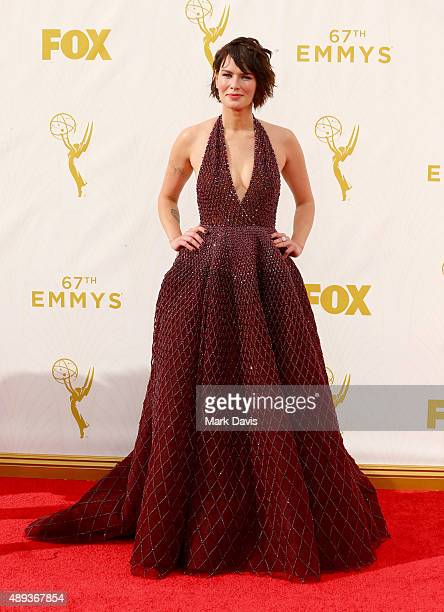 Actress Lena Headey attends the 67th Annual Primetime Emmy Awards at Microsoft Theater on September 20 2015 in Los Angeles California