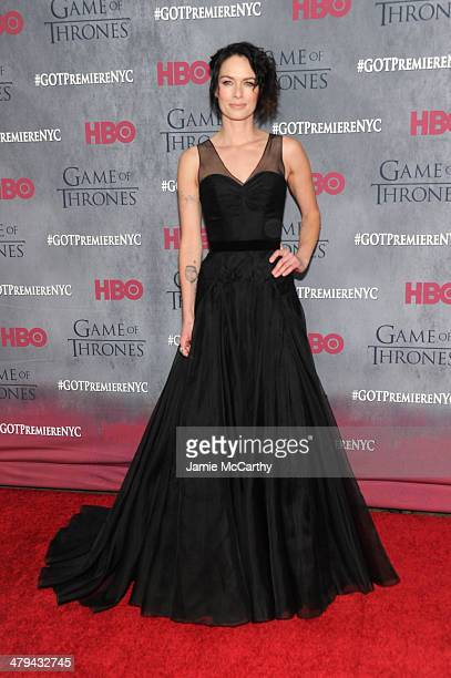 Actress Lena Headey attends the 'Game Of Thrones' Season 4 New York premiere at Avery Fisher Hall Lincoln Center on March 18 2014 in New York City