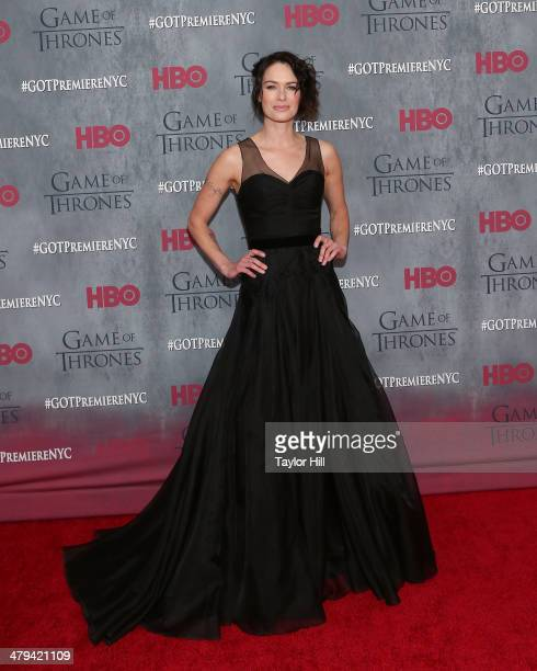 Actress Lena Headey attends the 'Game Of Thrones' Season 4 premiere at Avery Fisher Hall Lincoln Center on March 18 2014 in New York City