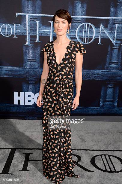 Actress Lena Headey attends the premiere for the sixth season of HBO's 'Game Of Thrones' at TCL Chinese Theatre on April 10 2016 in Hollywood City