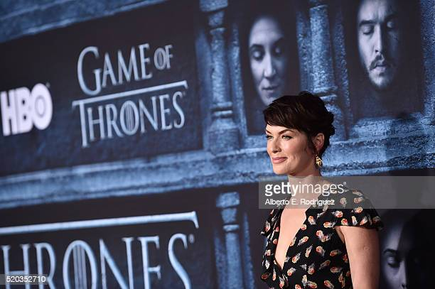 Actress Lena Headey attends the premiere of HBO's 'Game Of Thrones' Season 6 at TCL Chinese Theatre on April 10 2016 in Hollywood California