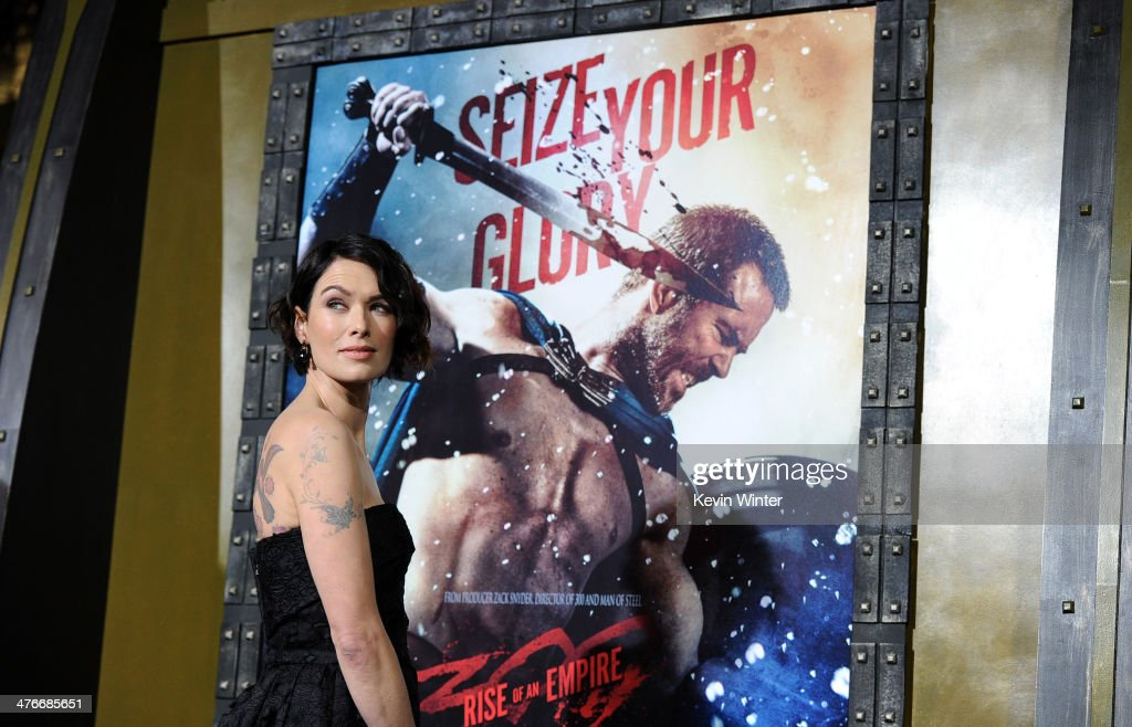 Actress <a gi-track='captionPersonalityLinkClicked' href=/galleries/search?phrase=Lena+Headey&family=editorial&specificpeople=2263449 ng-click='$event.stopPropagation()'>Lena Headey</a> attends the premiere of Warner Bros. Pictures and Legendary Pictures' '300: Rise Of An Empire' at TCL Chinese Theatre on March 4, 2014 in Hollywood, California.
