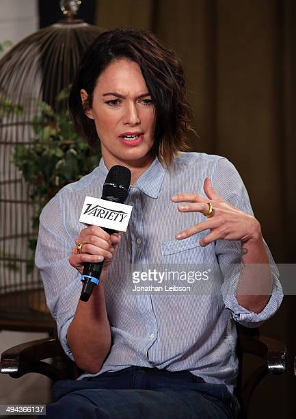 Actress Lena Headey attends the Variety Studio powered by Samsung Galaxy at Palihouse on May 29 2014 in West Hollywood California