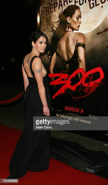 Actress Lena Headey attends the Warner Bros premiere of '300' held at Grauman's Chinese theater on March 5 2007 in Hollywood California