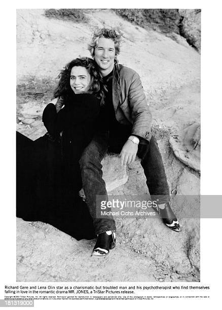 Actress Lena Olin and actor Richard Gere on the set of the Tri Star movie ' MrJones' in 1993