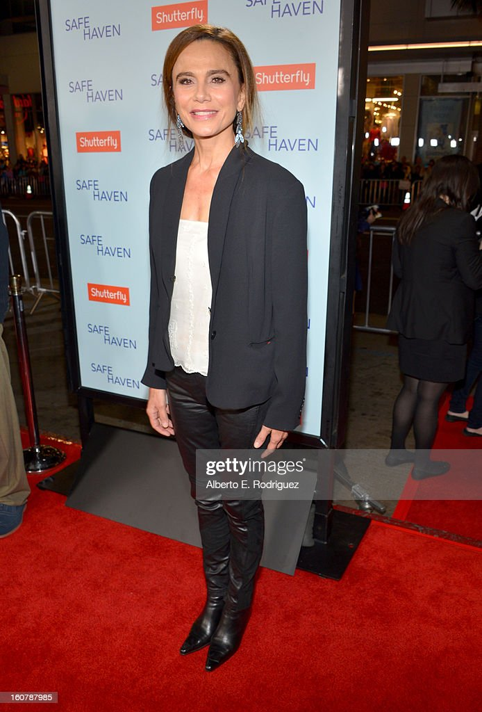 Actress Lena Olin arrives at the premiere of Relativity Media's 'Safe Haven' at TCL Chinese Theatre on February 5, 2013 in Hollywood, California.