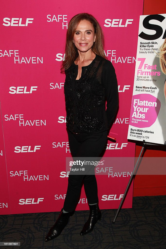 Actress Lena Olin attends a New York screening of 'Safe Haven' at Landmark Sunshine Cinema on February 11, 2013 in New York City.