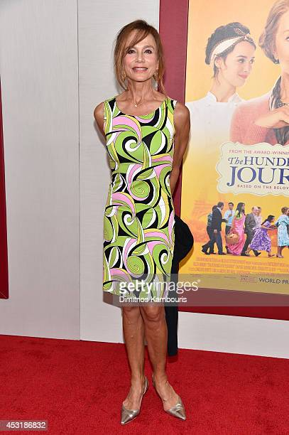 Actress Lena Olin attends the 'The HundredFoot Journey' New York premiere at Ziegfeld Theater on August 4 2014 in New York City