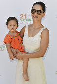 Actress Leonor Varela and Luna May attend Rainbeau Mars E Book Brunch Celebration on July 22 2016 in Beverly Hills California
