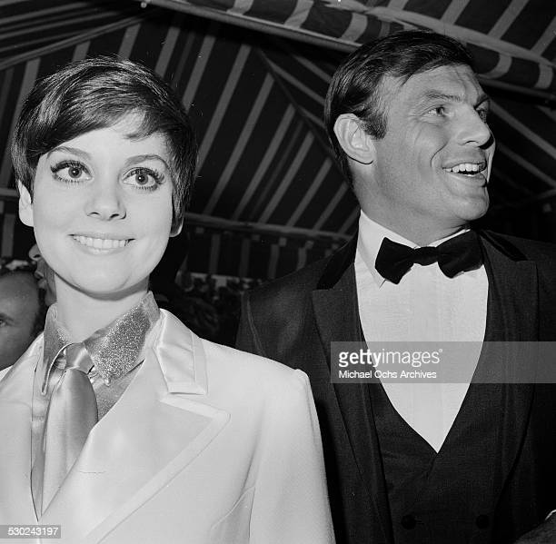 Actress Lesley Ann Warren attends an event with actor Adam West in Los AngelesCA