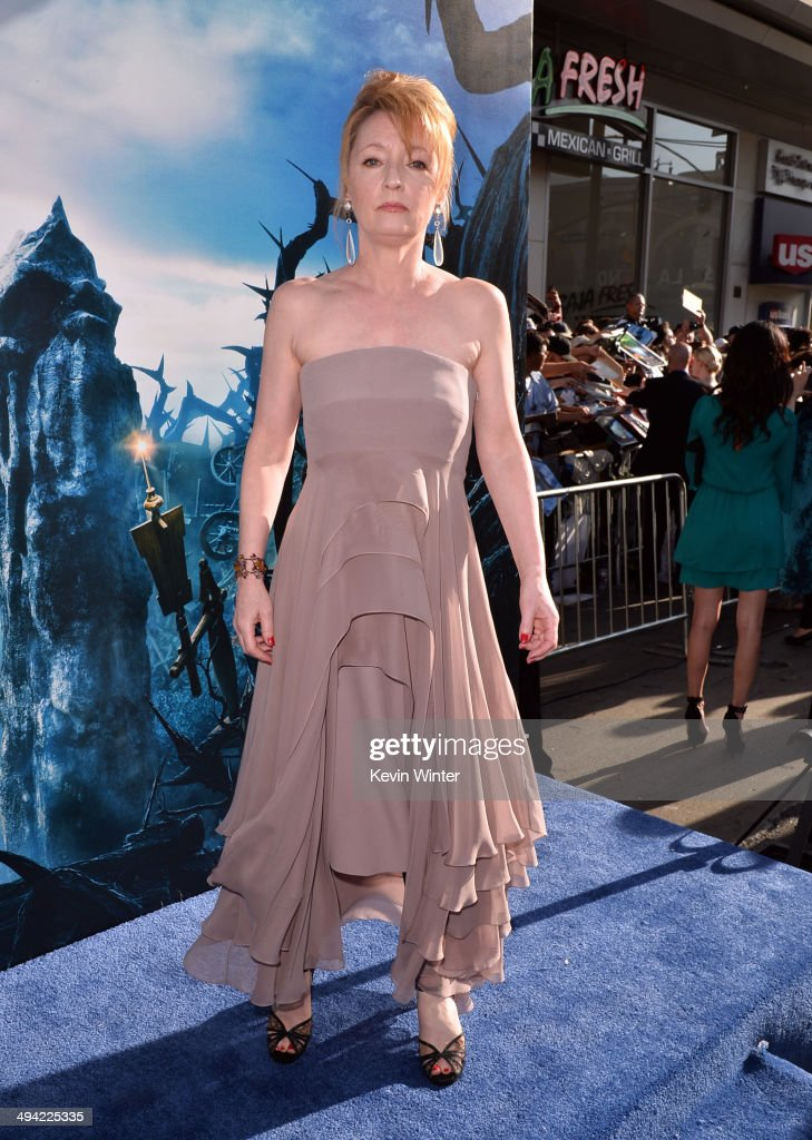 Actress <a gi-track='captionPersonalityLinkClicked' href=/galleries/search?phrase=Lesley+Manville&family=editorial&specificpeople=2826107 ng-click='$event.stopPropagation()'>Lesley Manville</a> attends the World Premiere of Disney's 'Maleficent' at the El Capitan Theatre on May 28, 2014 in Hollywood, California.
