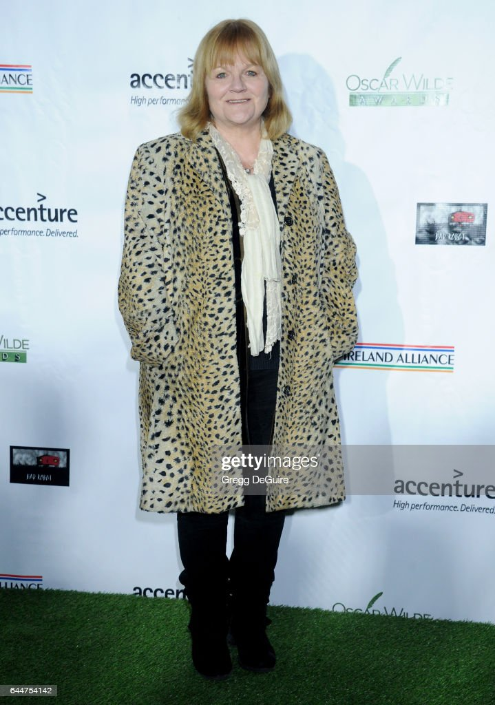 Actress Lesley Nicol arrives at the 12th Annual Oscar Wilde Awards at Bad Robot on February 23, 2017 in Santa Monica, California.