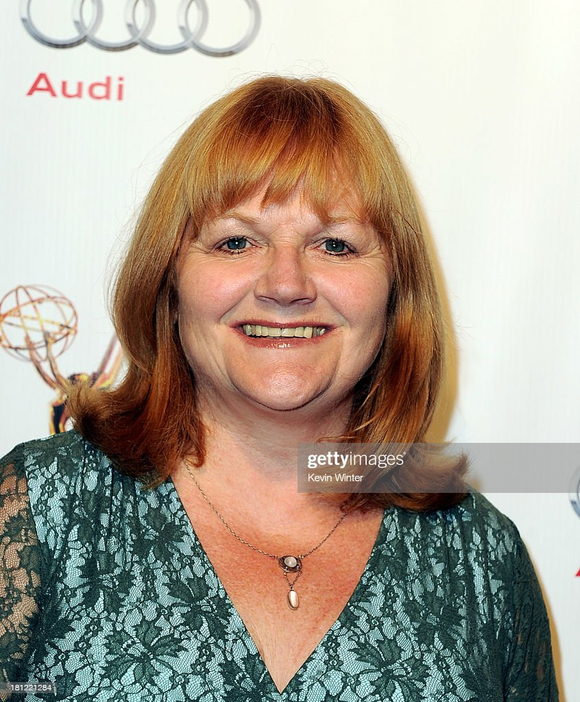 Actress Lesley Nicol arrives at the 65th Primetime Emmy Awards Writer Nominees reception at the Academy of Television Arts & Sciences on September 19, 2013 in No. Hollywood, California.