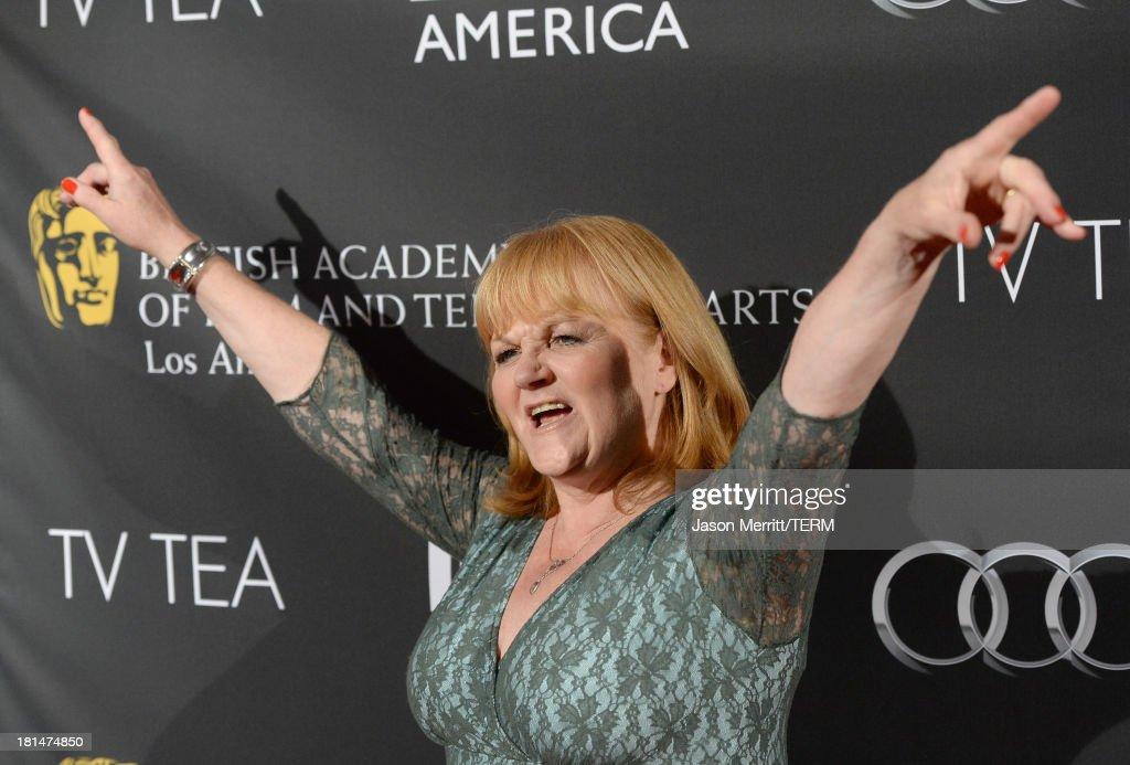 Actress Lesley Nicol attends the BAFTA LA TV Tea 2013 presented by BBC America and Audi held at the SLS Hotel on September 21, 2013 in Beverly Hills, California.