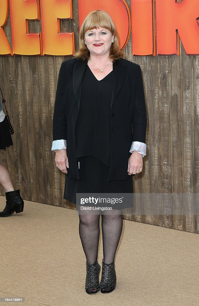 Actress Lesley Nicol attends the premiere of Relativity Media's 'Free Birds' at the Westwood Village Theatre on October 13, 2013 in Westwood, California.