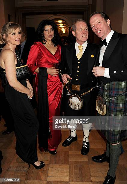 Actress Lesley Sharp Robina Qureshi director Peter Mullan and actor Iain Glen attend the London Evening Standard British Film Awards 2011 at the...
