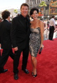 Actress Lesli Kay and actor Winsor Harmon arrive at the 35th Annual Daytime Emmy Awards at the Kodak Theatre on June 20 2008 in Los Angeles California