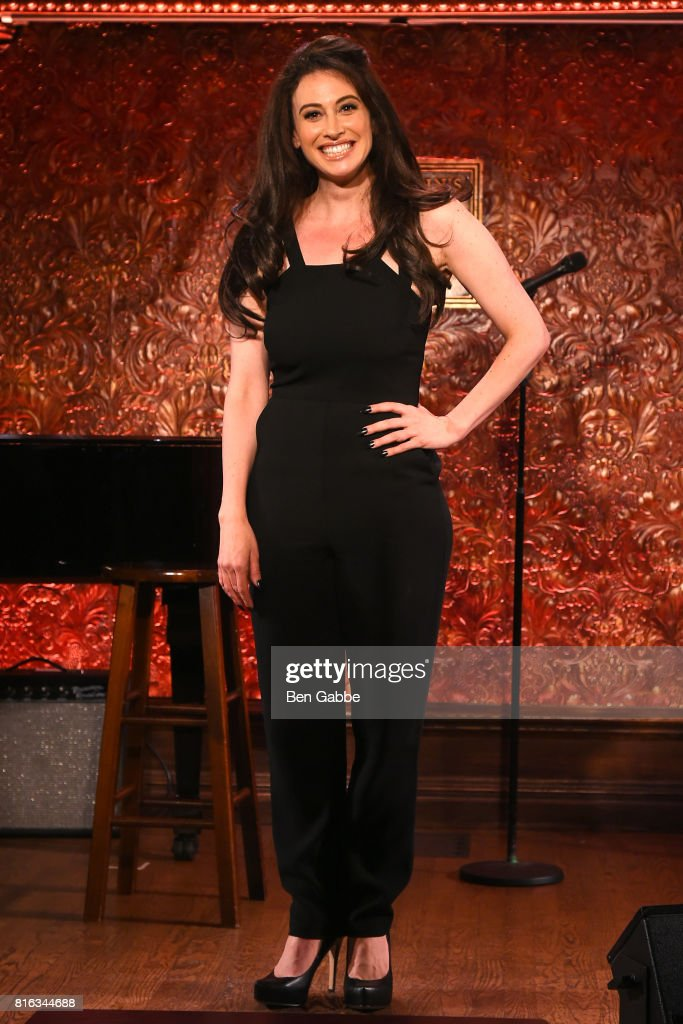 Actress Lesli Margherita attends Feinstein's/54 Below Press Preview at 54 Below on July 17, 2017 in New York City.