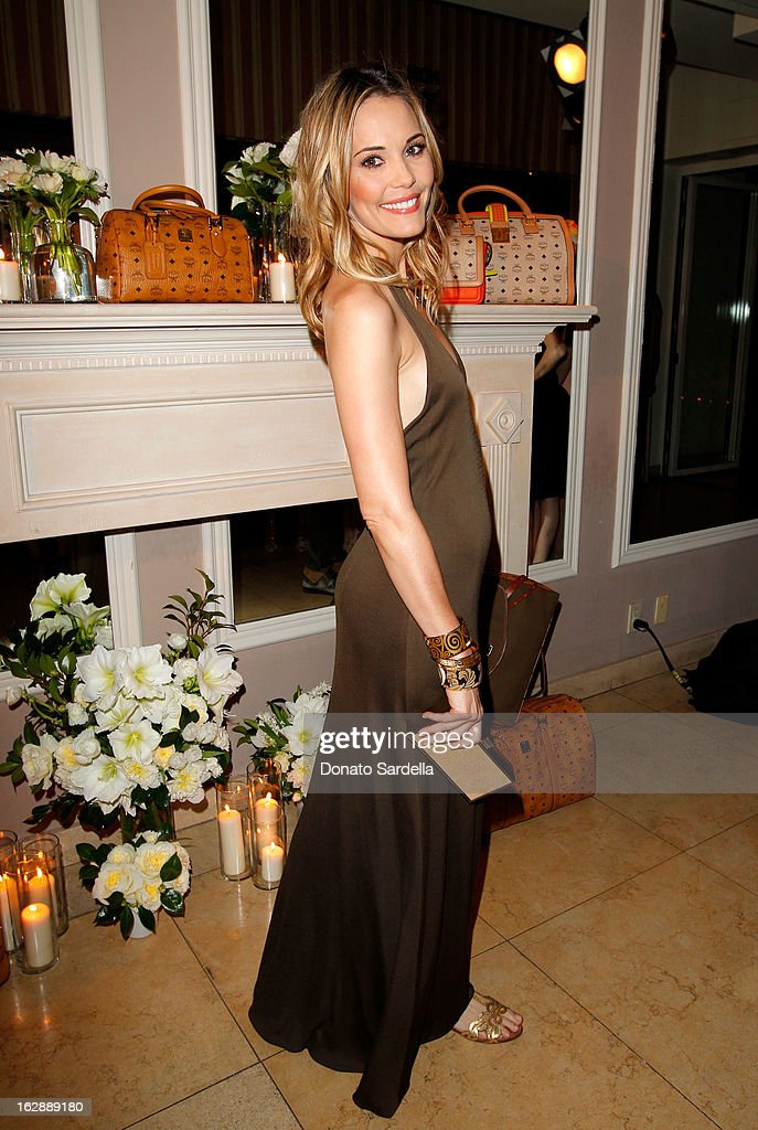 Actress Leslie Bibb attends the Dukes Of Melrose launch hosted by Decades, Harper's BAZAAR, and MCM on February 28, 2013 in Los Angeles, California.