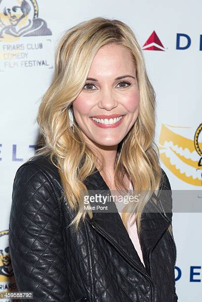 Actress Leslie Bibb attends The Friar Club Presents 'Take Care' New York Screening at The Friars Club on November 25 2014 in New York City