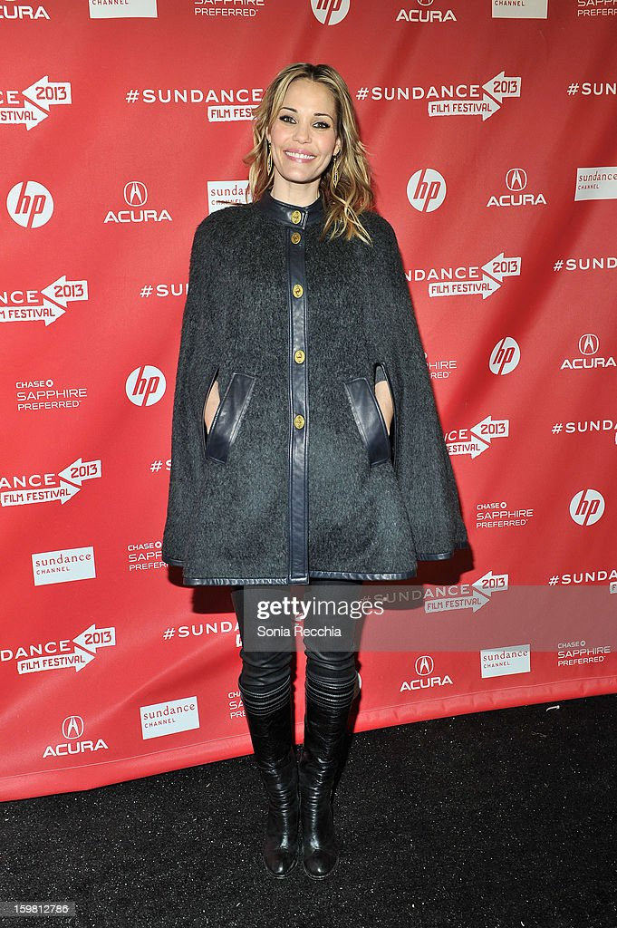 Actress Leslie Bibb attends the 'Hell Baby' premiere at Library Center Theater during the 2013 Sundance Film Festival on January 20, 2013 in Park City, Utah.