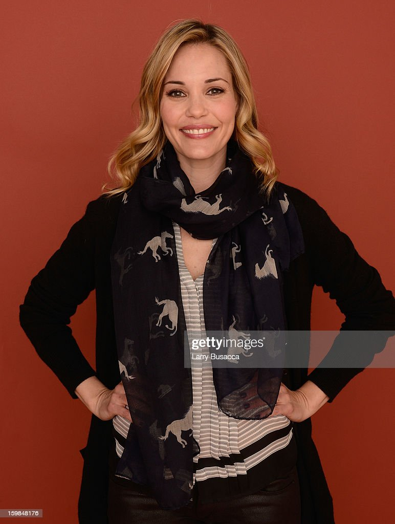 Actress Leslie Bibb poses for a portrait during the 2013 Sundance Film Festival at the Getty Images Portrait Studio at Village at the Lift on January 21, 2013 in Park City, Utah.