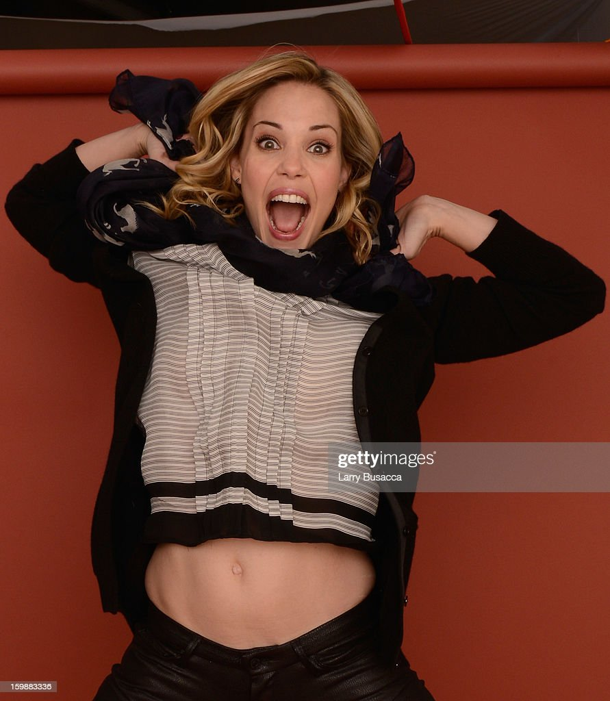 Actress <a gi-track='captionPersonalityLinkClicked' href=/galleries/search?phrase=Leslie+Bibb&family=editorial&specificpeople=560382 ng-click='$event.stopPropagation()'>Leslie Bibb</a> poses for a portrait during the 2013 Sundance Film Festival at the Getty Images Portrait Studio at Village at the Lift on January 21, 2013 in Park City, Utah.